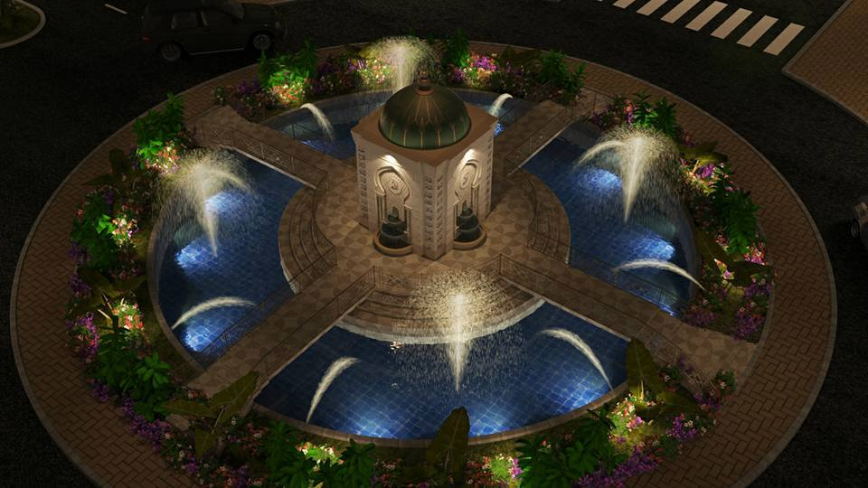 Roundabout at Al Qaim Housing